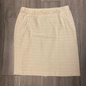 Worthington cream knee-length pencil skirt